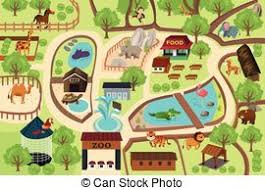 empty zoo map. Fine Map Map Of A Zoo Park  A Vector Illustration Map Zoo And Empty Zoo 1