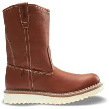 this review is from men s work wedge 10m tan full grain leather soft toe 10 wellington boots are comfortable