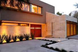 fantastic modern house lighting. awesome modern argentinian home facade by casa st56 in buenos aires with white solid patio fantastic house lighting r