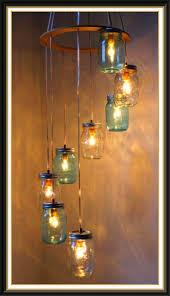 diy best exciting lighting images night lamps home river rain mason jar chandelier hanging pendant