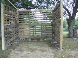 pallet shed. you secure the top layer to bottom one using carriage bolts and 2x4\u0027s. this part kind of sucks because pallets are hard drill through it\u0027s pallet shed