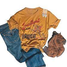 Retro Rodeo Graphic Tees Vintage Cowgirl Shirt for ... - Amazon.com