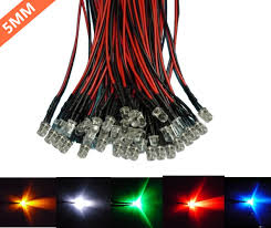 50pcs pack 5mm led pre wired light 3v 6v 12v 24v 20cm f5 straw hat round top bulbs light lamp for diy car boat toys party lighting project diy led lights