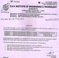 Office Circular For Internal Viva/presentation Of B.tech (Cse/ece/it ...