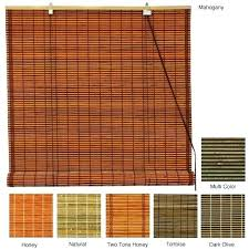 bamboo shades roll up image of outdoor