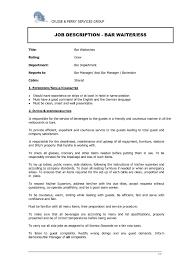 99 Server Bartender Resume Sample Bartender Resume