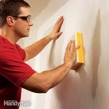 wet sanding drywall