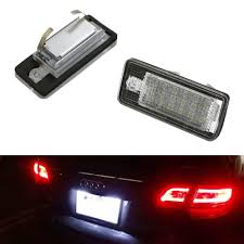 Audi A3 Led License Plate Lights Oem Fit 3w Full Led License Plate Light Kit For Audi A3 S3 A4 S4 A5 S5 A6 S6 A8 S8 Q7 Powered By 18 Smd Xenon White Led Can Bus Error Free