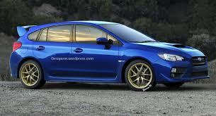 subaru impreza wrx 2015 hatchback.  Wrx New 2015 Subaru WRX STI Illustrated As A Five Door Hot Hatch Inside Impreza Wrx Hatchback Carscoops