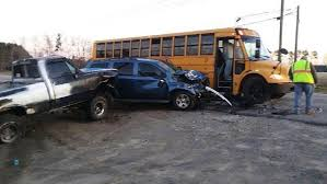 Robeson Co. school bus hit while picking up student | WPDE