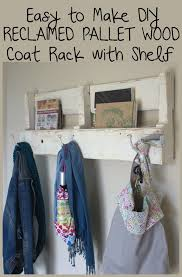 Make Coat Rack Make Your Own Reclaimed Wood Pallet Coat Rack and Shelf 70