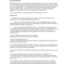 Resume Templates For One Job History