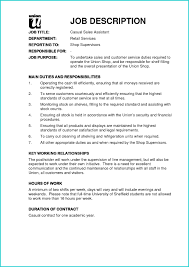 Resume Examples For Jobs Elegant Example Job Description for Resume Examples Of Resumes 88