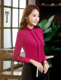 Female Office Shirt Designs Women Autumn Stand Collar Fashion Office Shirt By Pick A