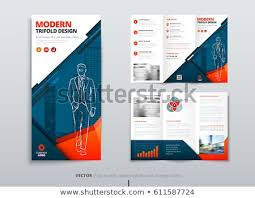 Fold Flyer Tri Fold Brochure Design Dl Corporate Stock Vector Royalty Free