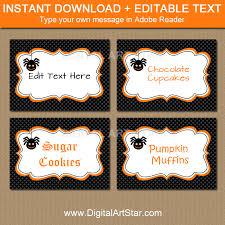 halloween candy buffet labels. Modren Halloween Black Halloween Candy Buffet Labels With Spider Intended M