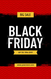 Black Flyer Backgrounds Flyer Template For Black Friday Sales 185d