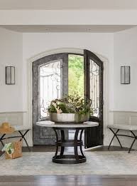 boston foyer round table ideas with clear shade entry beach style and iron door grill with foyer round tables