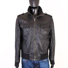 details about gipsy womens leather jacket black int l
