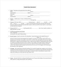 Rental agreement sample and formats :: 32 Rental Agreement Templates Pdf Doc Free Premium Templates
