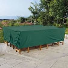 plastic outdoor furniture cover. Weather Wrap® Rectangular Table \u0026 Chairs Cover Plastic Outdoor Furniture Cover