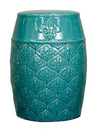 turquoise garden stool. Beautiful Garden New Pacific Direct Spear Ceramic Garden StoolTurquoise GreenFully  Assembled Intended Turquoise Stool A