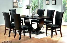 dining table chairs cream modern with black wood and set round 6 ta