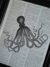 diy book page art magnet with graphics from book page art ideas source hometalk upcycled book page octopus on vine dictionary book page 6