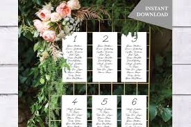 Wedding Seating Chart Cards Template Calligraphy Wedding Seating Cards Template Unique Seating