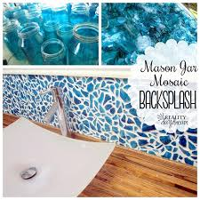 diy mason jar mosaic backsplash tutorial