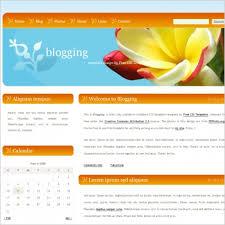 Website Templates Free Delectable Blogging Free Website Templates In Css Js Format For Free