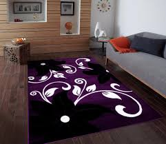enchanting purple and white area rugs lavender rug nursery black with fl design extraordinary modern eggplant colored grey home goods plum
