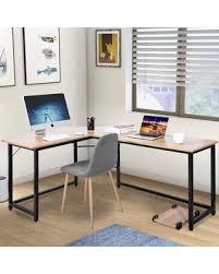 L shaped desks for home office Small Space Modernluxe Lshaped Desk Corner Computer Desk Study Writing Desk For Home Office Oak Parenting Sweet Savings On Modernluxe Lshaped Desk Corner Computer Desk Study
