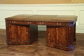 high end office desk. high end flame mahogany partners desk with removable privacy panel and lockable doors office 0