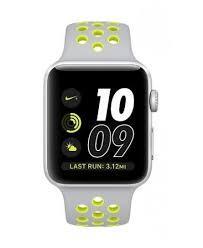 apple nike watch series 2. apple watch series 2 nike+ aluminum 42mm case with flat silver/volt smart nike
