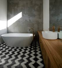 modern bathroom tile designs. Collect This Idea Zig Zag Black And White Floor. Tile Flooring Is Common In Bathrooms Modern Bathroom Designs V