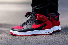 nike air force 1 mid black gym red white air force 1 mid