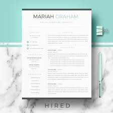 blue modern resume template mariah professional modern resume template for word contemporary