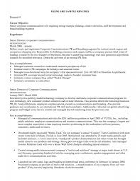 Example Of Career Objectives For Resume Free Resume Example And