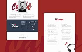 Unique Resume Templates Free Inspirational Web Designer Resume