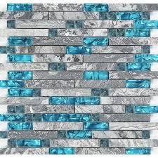 blue glass stone mosaic wall tiles gray marble tile kitchen backsplash bravotti com