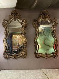 hollywood regency ornate wall mirror