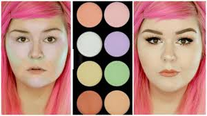 color correcting using makeup revolution ultra base corrector palette you