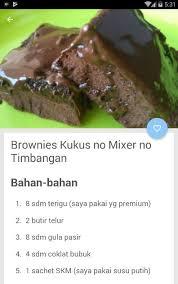 Ini resep brownies kukus sederhana tanpa mixer yang bisa kamu buat di rumah dengan mudah. Aneka Resep Kue Kukus Tanpa Mixer For Android Apk Download