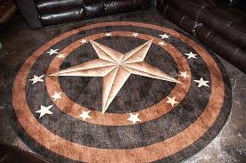home texas star rug round area rugs western
