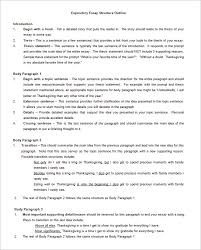 essay outline word pdf format  expository essay outline template