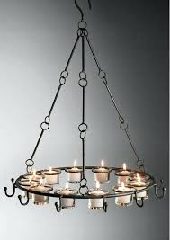 garden candle chandelier outdoor thrifty decor pottery bar treasures chandeli