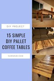 diy pallet coffee table ideas and projects