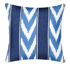 outdoor pillow covers blue ikat to enlarge