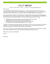 Example Of Franchise Best Franchise Owner Cover Letter Examples Livecareer